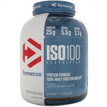 Dymatize Nutrition, ISO 100 Hydrolyzed 100% Whey Protein Isolate, Chocolate Coconut, 5 lb