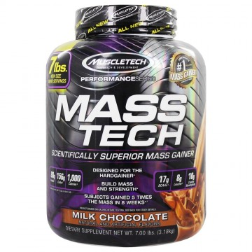 Mass Tech Performance Series Advanced Muscle Mass Gainer Milk Chocolate - 7 lbs