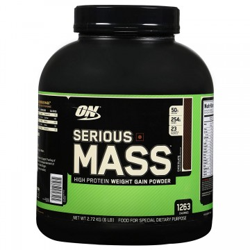 Optimum Nutrition (ON) Serious Mass Weight Gainer Powder - 6 lbs 2.72 kg