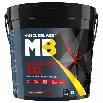 MuscleBlaze Mass Gainer XXL with Complex Carbs and Proteins in 3:1 ratio, 11 lb