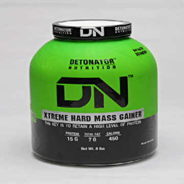 detonator nutrition xtreme hard mass gainer 6lbs